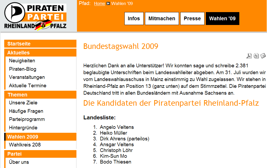 Piraten Thiesen 19.08.2009