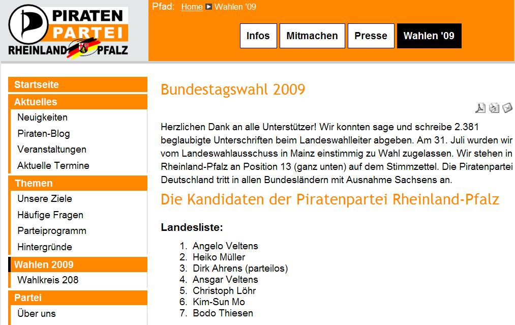 Piraten Thiesen 19.08.2009